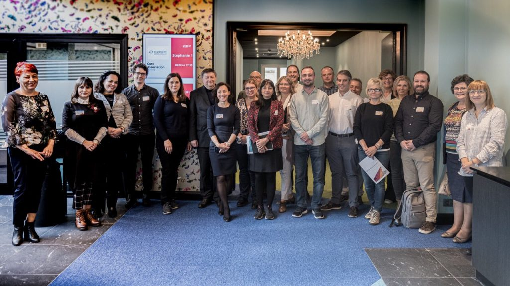 Rural NEET Youth Network members at the Action first meeting, in Brussels, in October